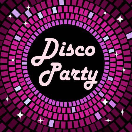 Disco party retro violet