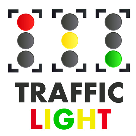 red' green: traffic light vector red green yellow