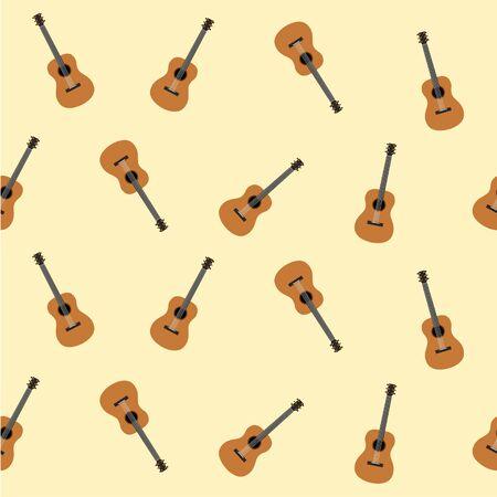 chord: guitar classic instrument music vector Illustration
