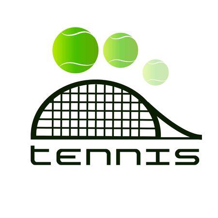 Tennis vector sport green badge