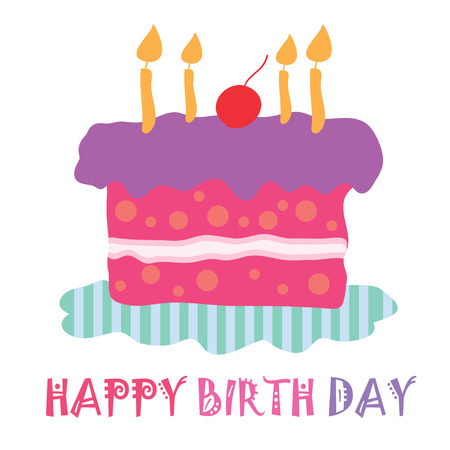 happy birth day cake cute pastel