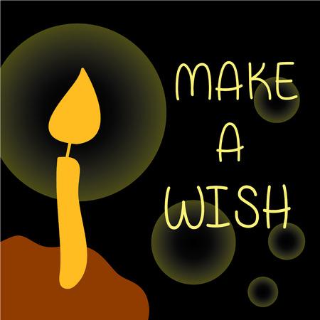 happy birth day: Make a wish candle on Happy birth day cake