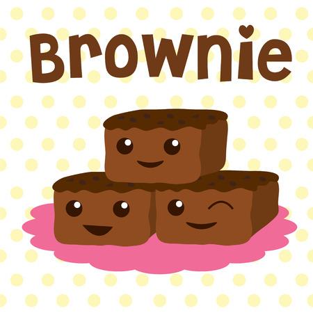 brownie vector cartoon cute sweet