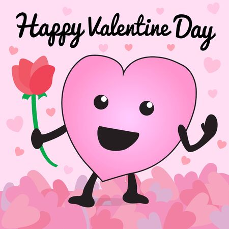 happy valentin day heart colorful love you background