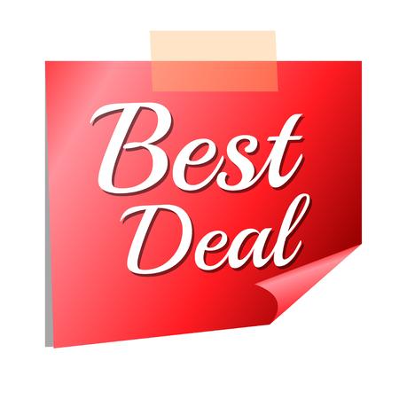best deal sold red tag Иллюстрация