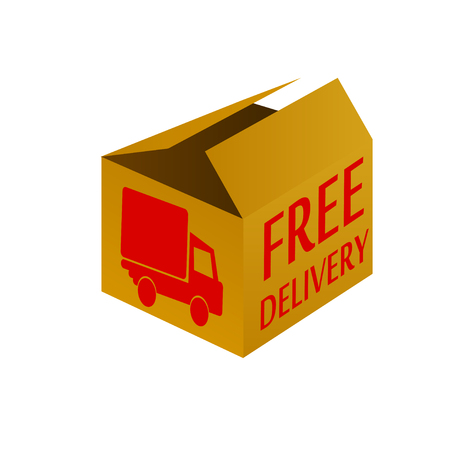 stuffs: free delivery box package vector