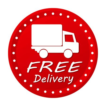 stuffs: free delivery box with red arrow