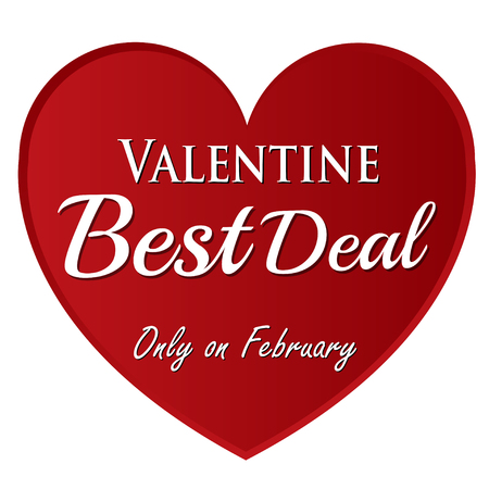 valentine best deal on february red heart