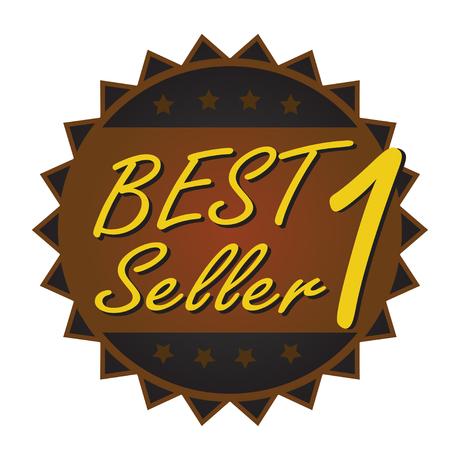 best seller badge black brown