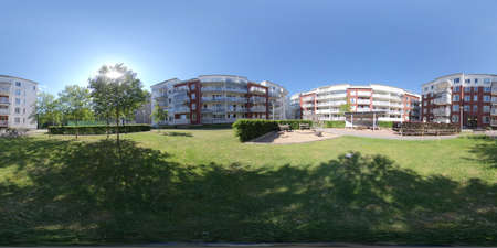 360 VR - Modern Apartment Block a Sunny Day