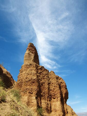 rock formation: Rock formation pointing up.