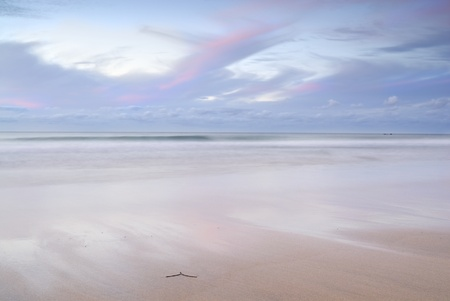 Slow shutter abstract seascape. Simple composition. photo