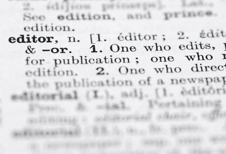 Shallow DOF, se concentrer sur R�dacteur en Dictionnaire Anglais. Banque d'images