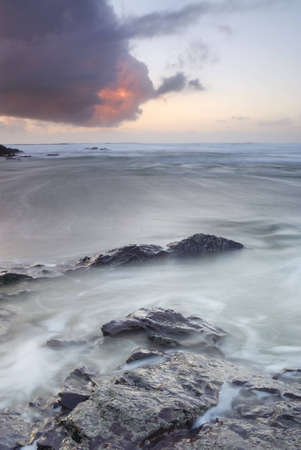 Cornish dusk seascape, North Cornwall. Stock Photo - 12631870