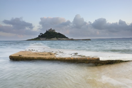 Dusk image of St Michaels Mount, Cornwall, UK.