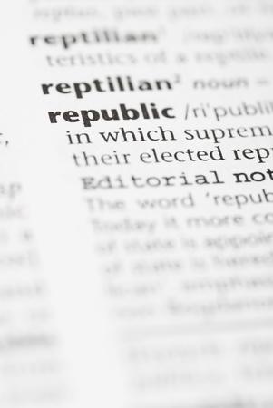 commonwealth: Macro image of dictionary word: Republic.