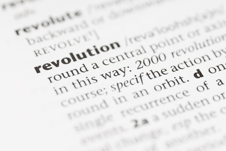 definicion: Macro imagen de la palabra de diccionario: Revolucionaria.