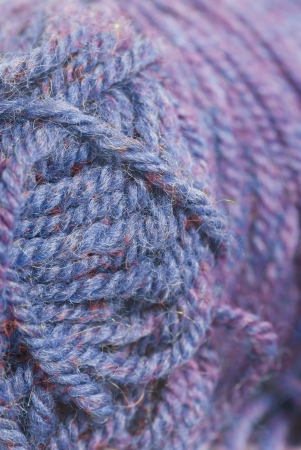 Purple knitting wool, close crop. photo