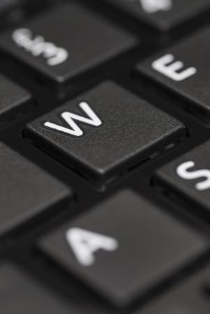 D�tail de clavier d'ordinateur portable noir.