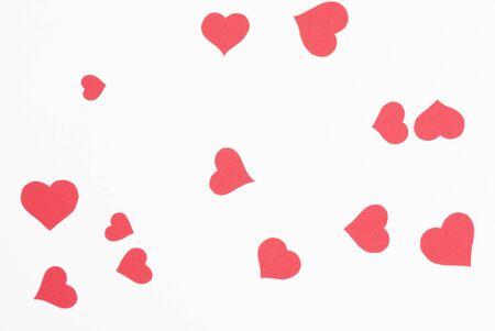 Fond rouge de coeur d'amour Banque d'images