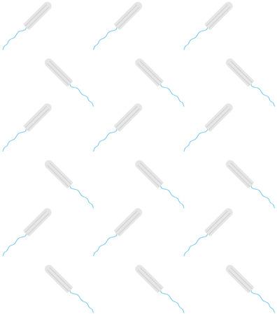 vector seamless pattern of feminine woman sanitary hygiene menstruation pad napkin tampon
