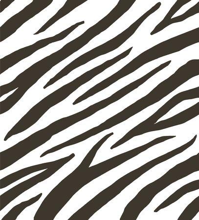 Modèle sans couture de vecteur de fourrure d'impression de rayures zébrées noir et blanc