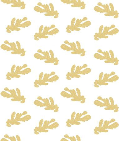 Vector seamless pattern of hand drawn ginger root isolated on white background Ilustrace