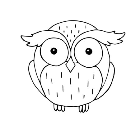 Vector hand drawn outline doodle sketch owl isolated on white background