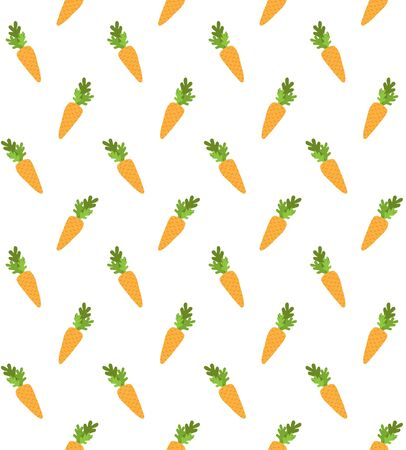 Vector seamless pattern of hand drawn doodle cartoon carrot isolated on white background Vector Illustratie