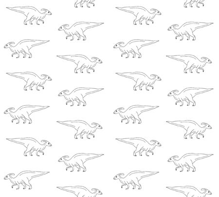 seamless pattern of hand drawn doodle sketch dinosaur isolated on white background