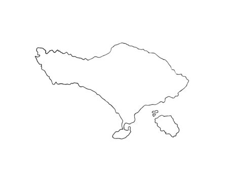 Vector hand drawn doodle sketch Bali island isolated on white background