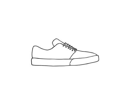 Vector hand drawn doodle sketch skate sneaker shoe isolated on white background