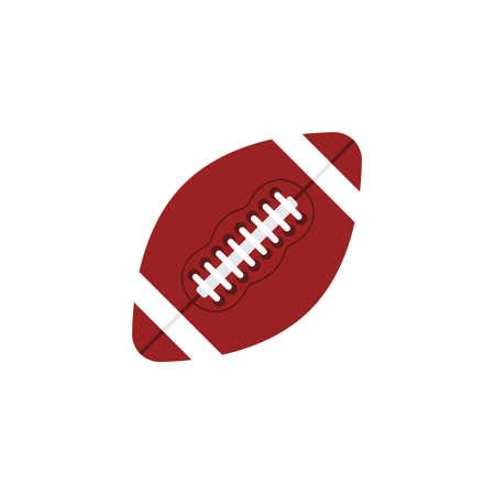 flat cartoon colored American football ball isolated on white background Illusztráció