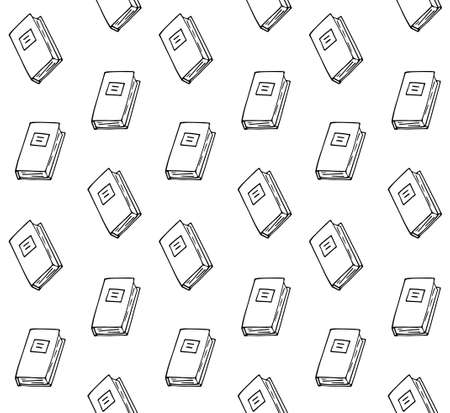 Vector seamless pattern of hand drawn doodle sketch book isolated on white background 矢量图像