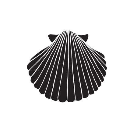 Vector hand drawn doodle sketch black shell isolated on white background Vektorgrafik