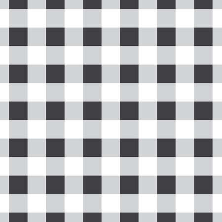 Vector seamless pattern of checkered plaid isolated on white background Иллюстрация