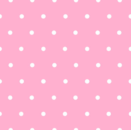 Vector seamless pattern of white dots isolated on pink background