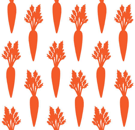 Vector seamless pattern of hand drawn carrot silhouette isolated on white background