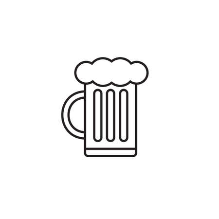Vector flat beer icon isolated on white background