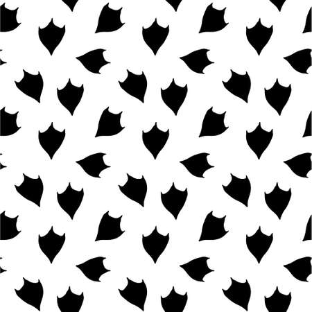 Vector seamless pattern of duck goose bird paw foot print isolated on white background
