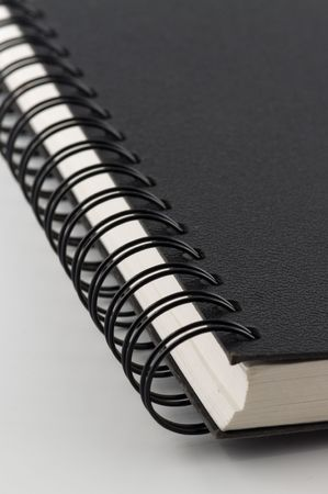 Close-up of notebook. A neutral background Stock Photo - 7610829