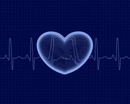 lifeline: cardiogram Stock Photo