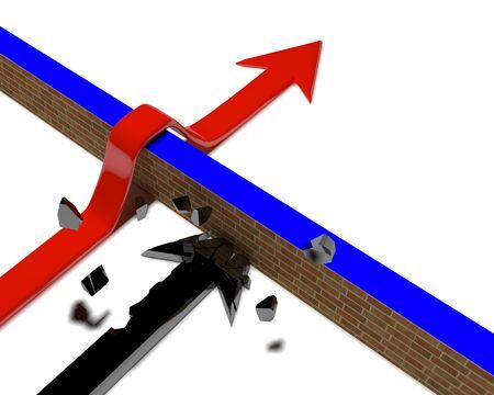 Arrow over a wall - 2 photo