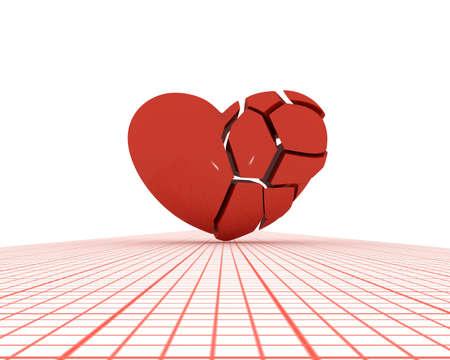 splinters: Heart splinters Stock Photo