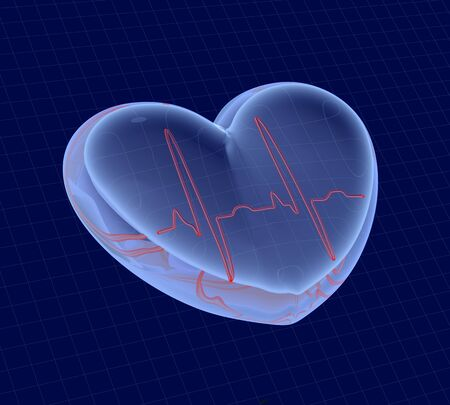 taking pulse: cardiogram Stock Photo