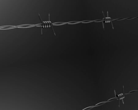 barbwire: 3D Barbed wire background