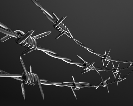 3D Barbed wire background