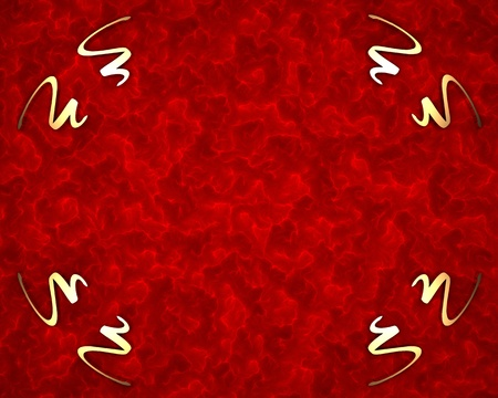 irish christmas: Red background with gold pattern