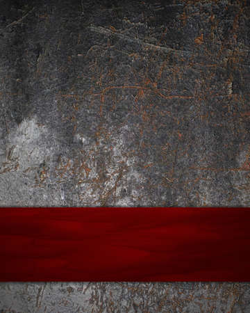 rust background with red card photo