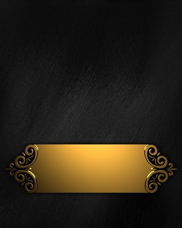 festive: Black Background with Golden Band
